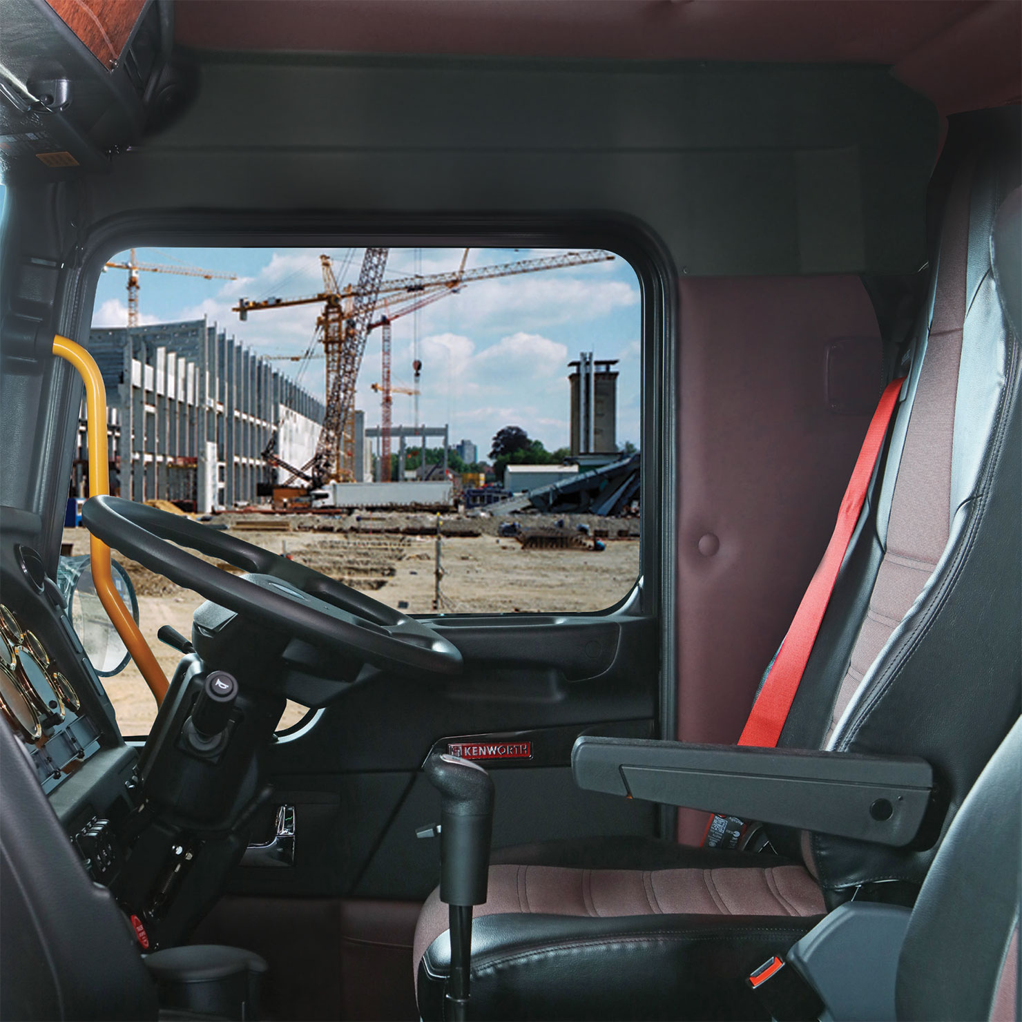 T359a Kenworth Australia K300 Fuse Box The Wrap Around Instrument Panel Allows Easy Access To Controls Featuring An Adjustable Steering Column And A Smart Wheel With Fingertip For